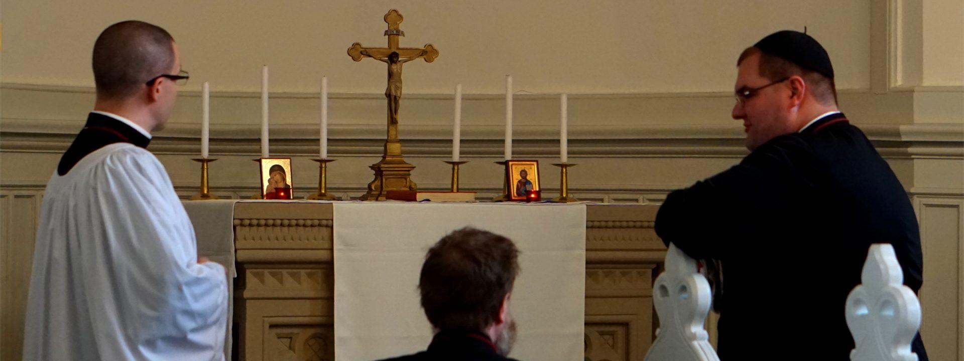 Besprechung vor der Messe